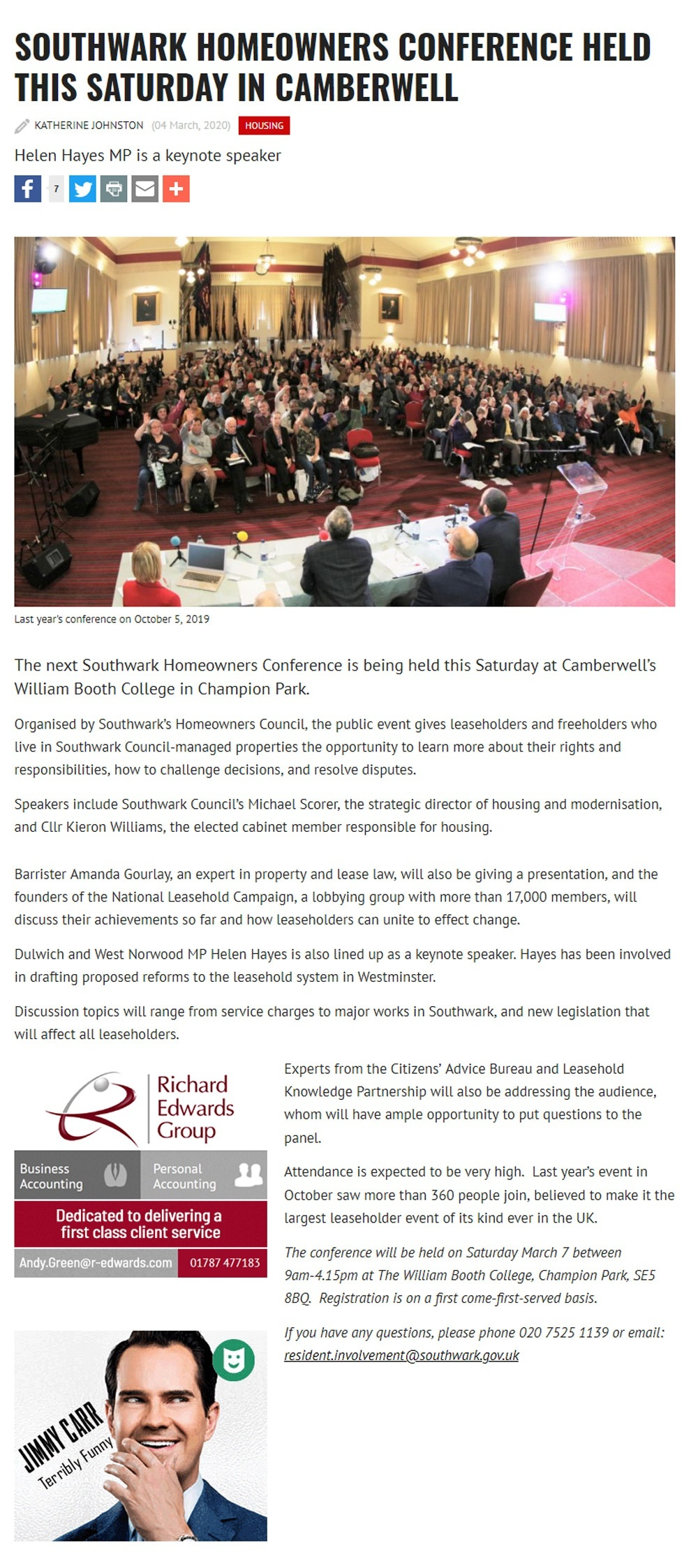 htsouthwark-homeowners-conference-held-this-saturday-in-camberwell Helen Hayes MP is a keynote speaker